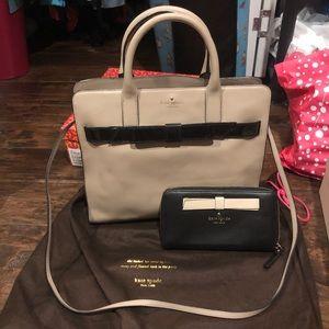 Kate Spade ♠️ bow handbag with matching wallet